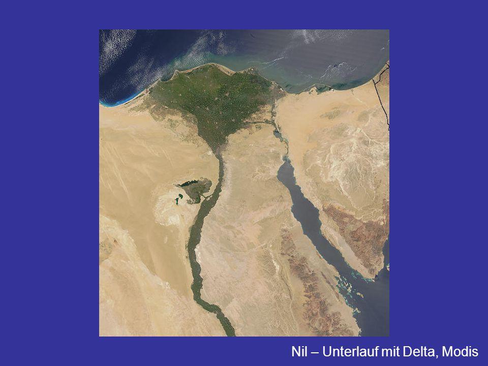 Nil – Unterlauf mit Delta, Modis