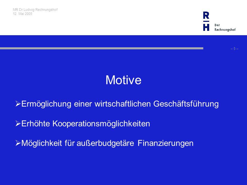 MR Dr Ludwig Rechnungshof 12. Mai 2005 – 26 – Schlussfolgerungen