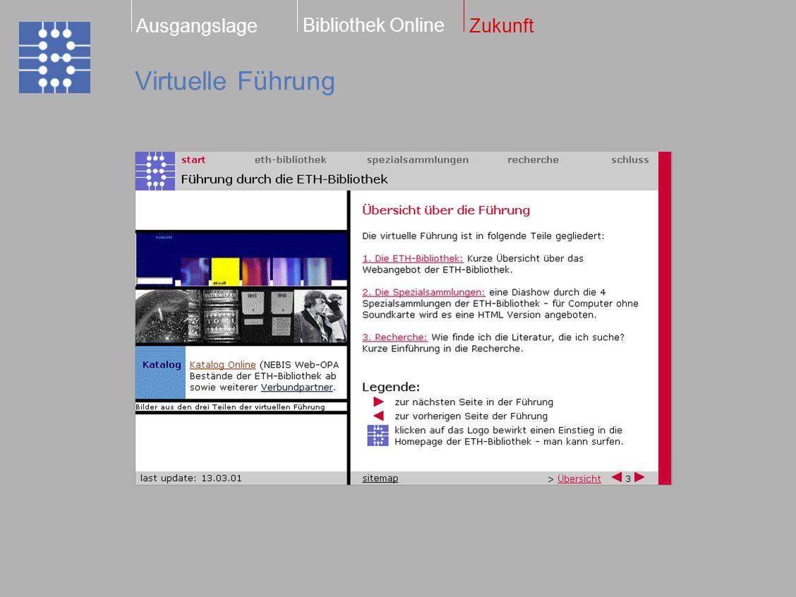 Virtuelle Führung Bibliothek Online ZukunftAusgangslage
