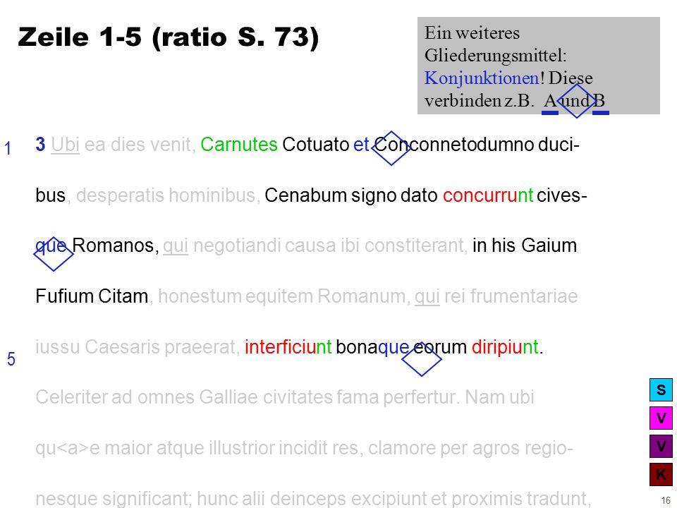 V V K S 16 3 Ubi ea dies venit, Carnutes Cotuato et Conconnetodumno duci- bus, desperatis hominibus, Cenabum signo dato concurrunt cives- que Romanos, qui negotiandi causa ibi constiterant, in his Gaium Fufium Citam, honestum equitem Romanum, qui rei frumentariae iussu Caesaris praeerat, interficiunt bonaque eorum diripiunt.