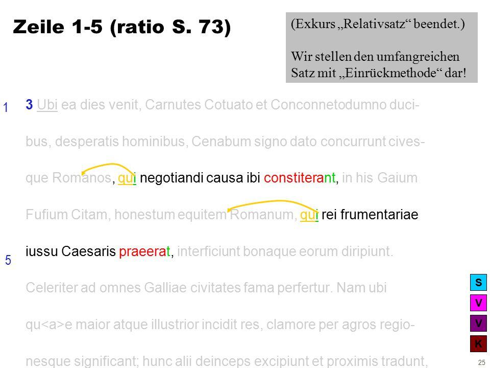 V V K S 25 3 Ubi ea dies venit, Carnutes Cotuato et Conconnetodumno duci- bus, desperatis hominibus, Cenabum signo dato concurrunt cives- que Romanos, qui negotiandi causa ibi constiterant, in his Gaium Fufium Citam, honestum equitem Romanum, qui rei frumentariae iussu Caesaris praeerat, interficiunt bonaque eorum diripiunt.