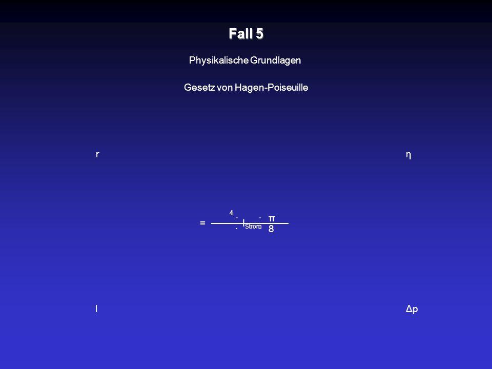 r l η ΔpΔp = · I Strom Physikalische Grundlagen Gesetz von Hagen-Poiseuille Fall 5 · · · π 8 4