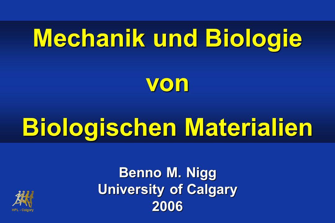 Mechanik und Biologie von Biologischen Materialien Benno M. Nigg University of Calgary 2006