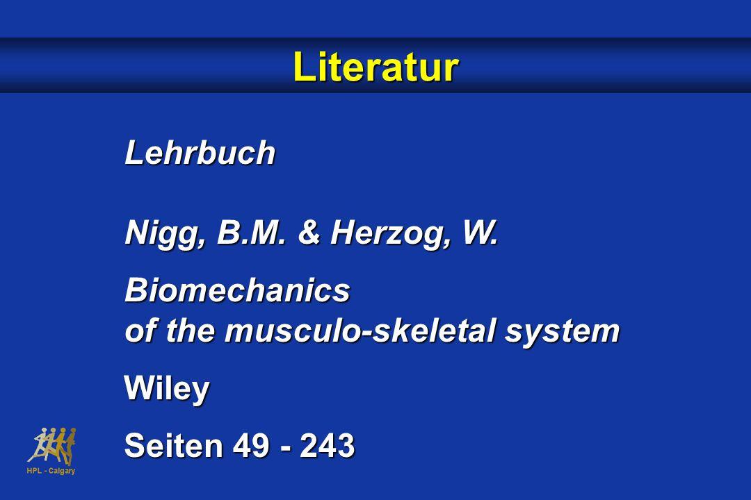 Literatur Lehrbuch Nigg, B.M.& Herzog, W.