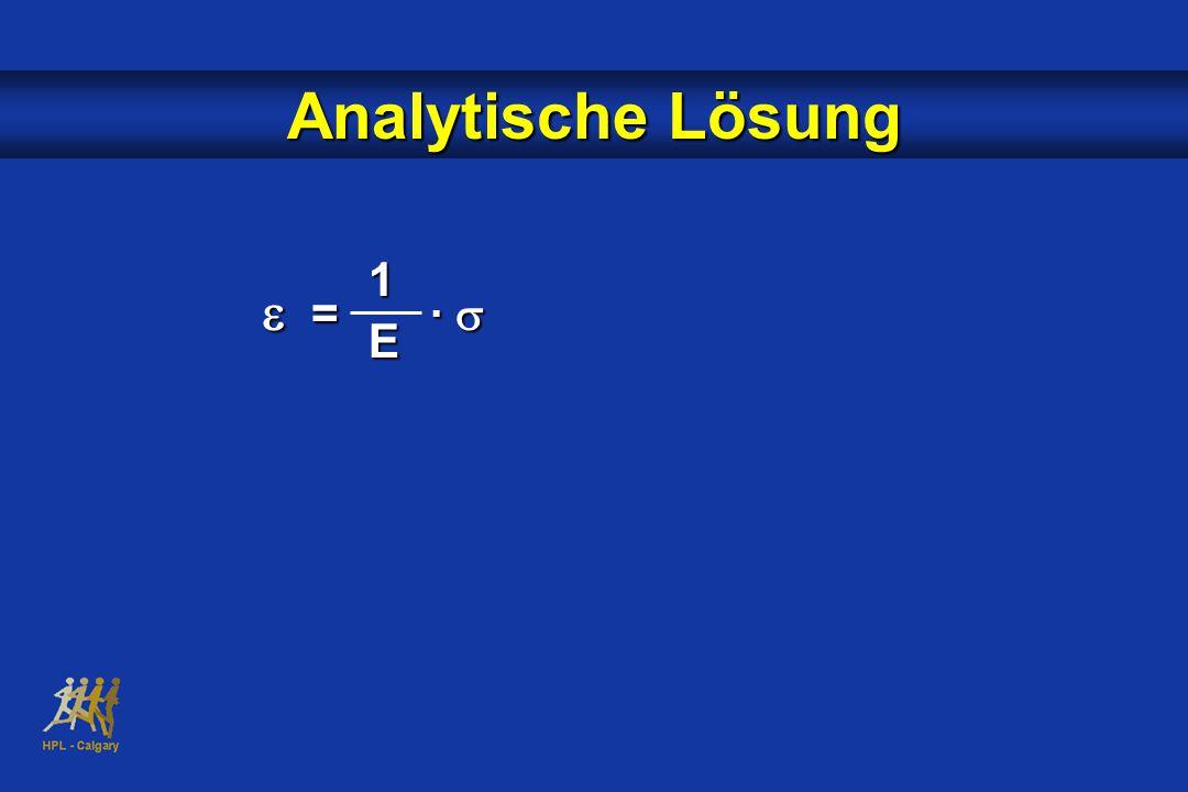 Analytische Lösung  = ·  1E