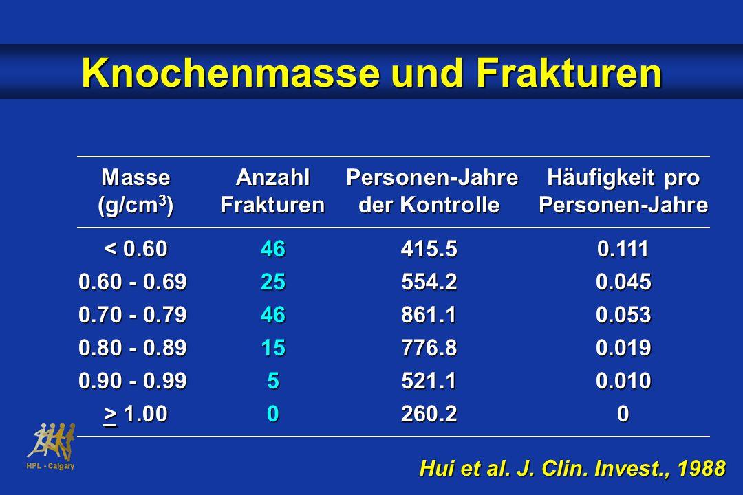 Knochenmasse und Frakturen Hui et al.J. Clin.