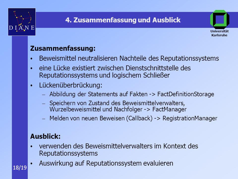 Universität Karlsruhe 18/19 4.