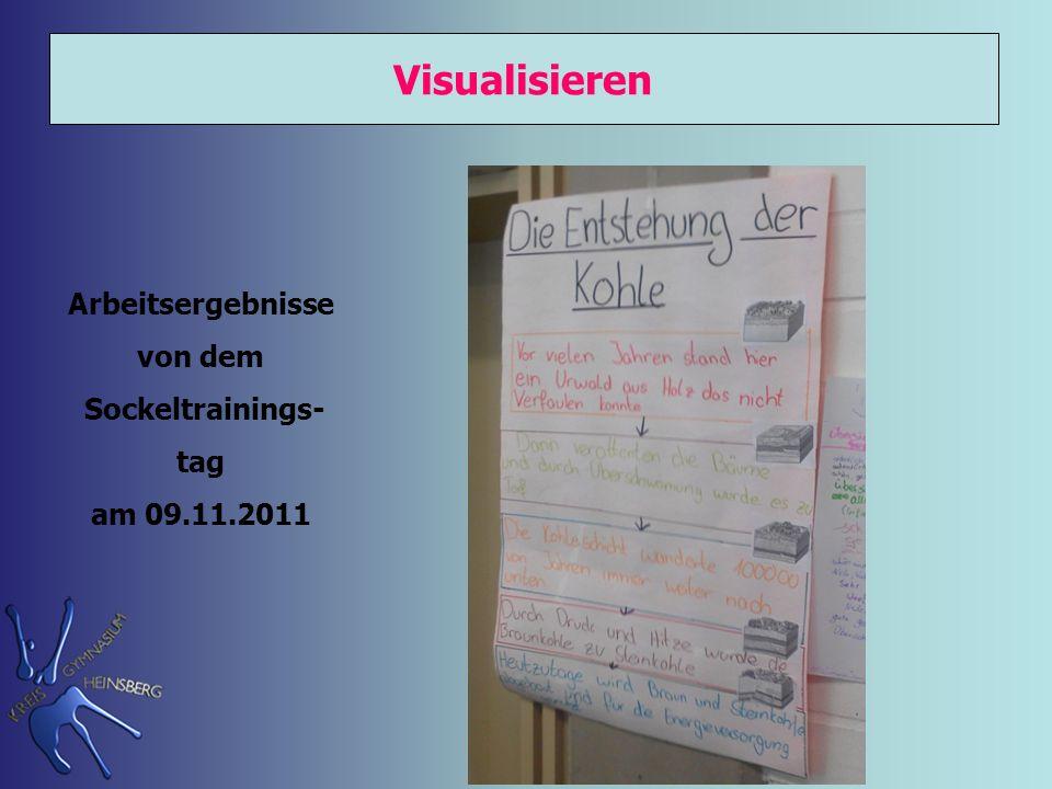 Visualisieren Arbeitsergebnisse von dem Sockeltrainings- tag am 09.11.2011