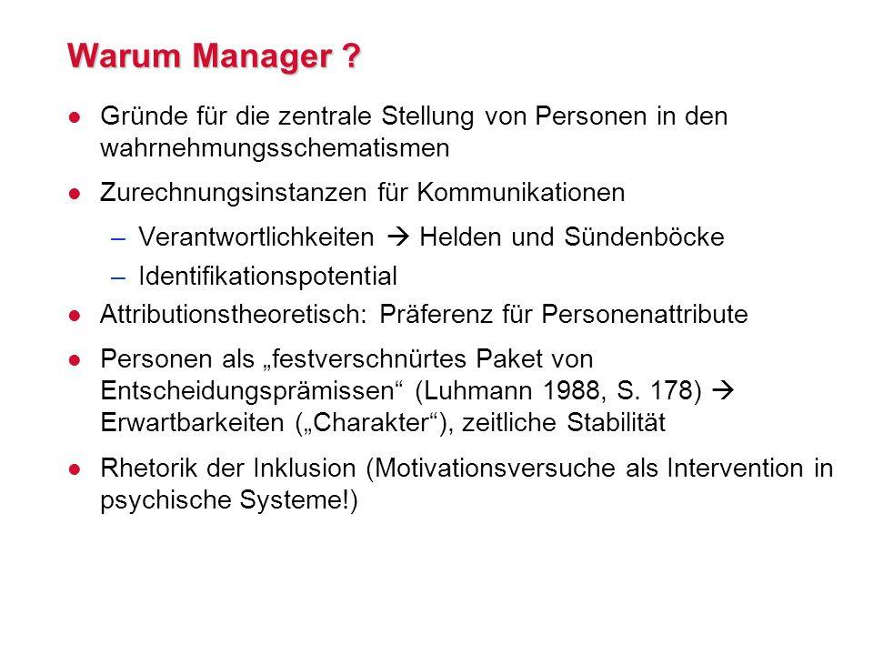 Warum Manager .