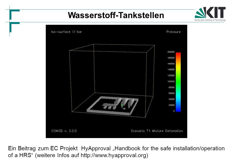 """Ein Beitrag zum EC Projekt HyApproval """"Handbook for the safe installation/operation of a HRS (weitere Infos auf http://www.hyapproval.org) Wasserstoff-Tankstellen"""