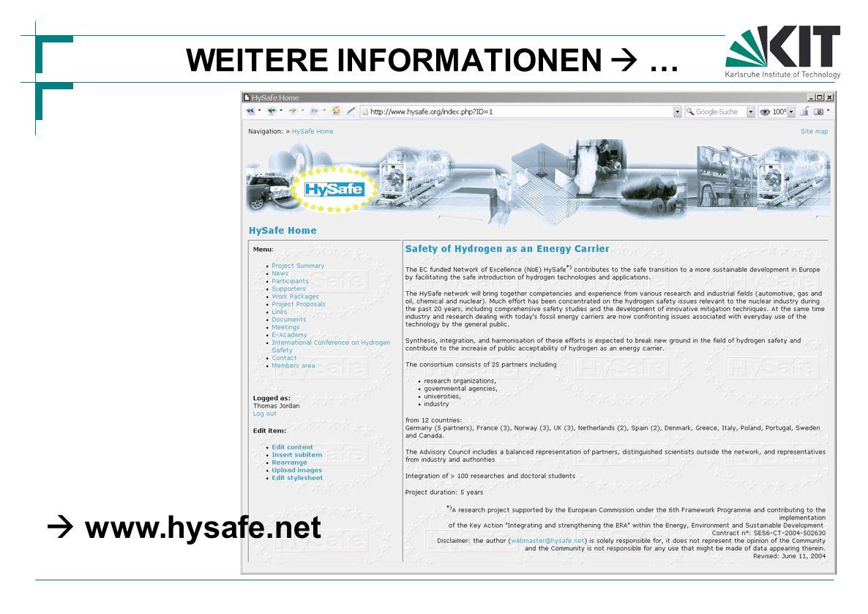 WEITERE INFORMATIONEN  …  www.hysafe.net