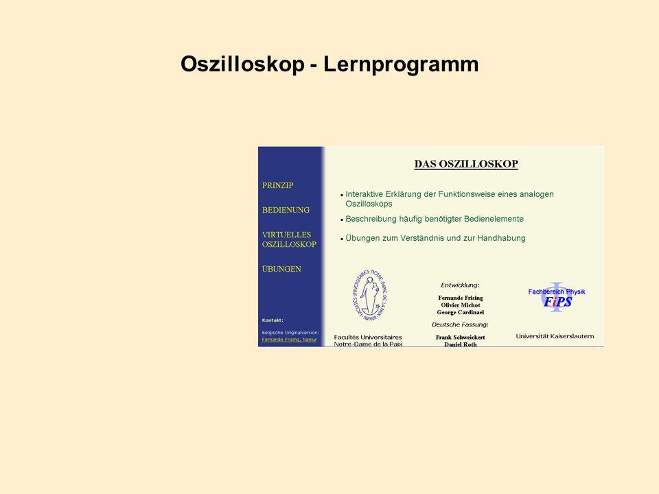 Oszilloskop - Lernprogramm