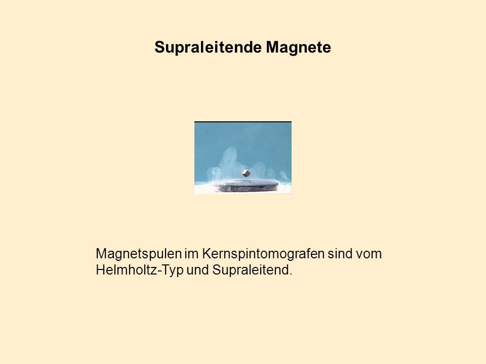 Supraleitende Magnete Magnetspulen im Kernspintomografen sind vom Helmholtz-Typ und Supraleitend.