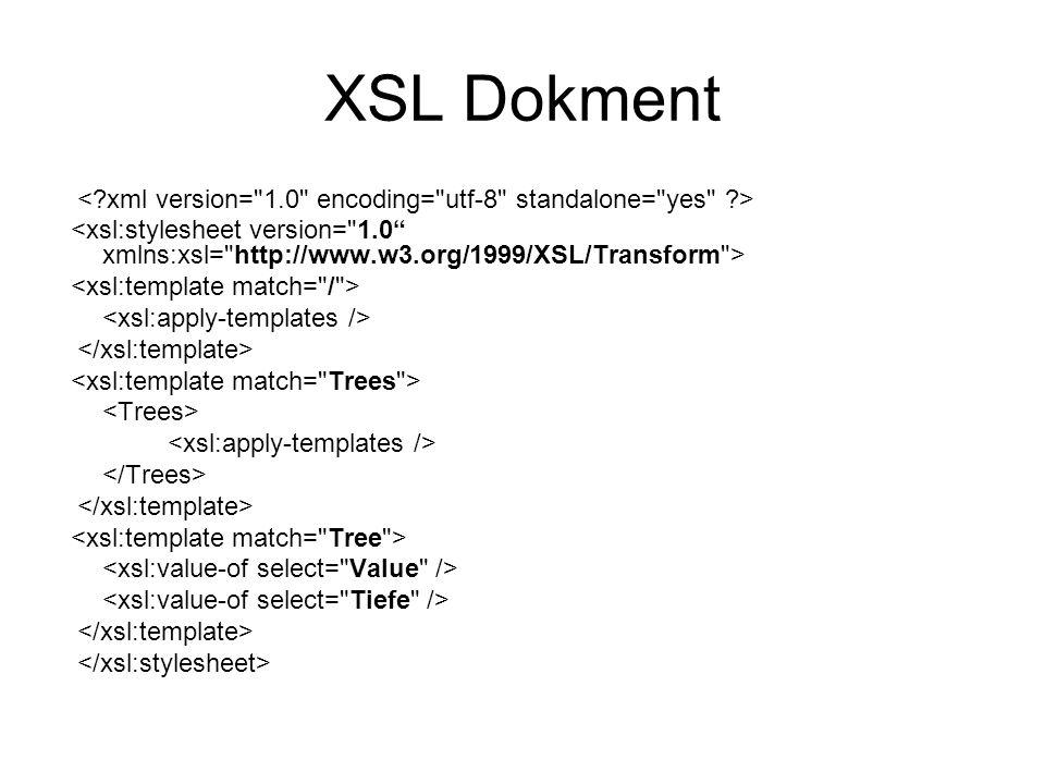 XSL Dokment