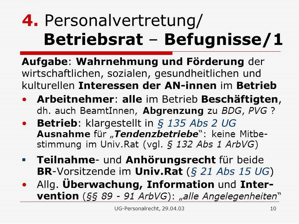 UG-Personalrecht, 29.04.0310 4.