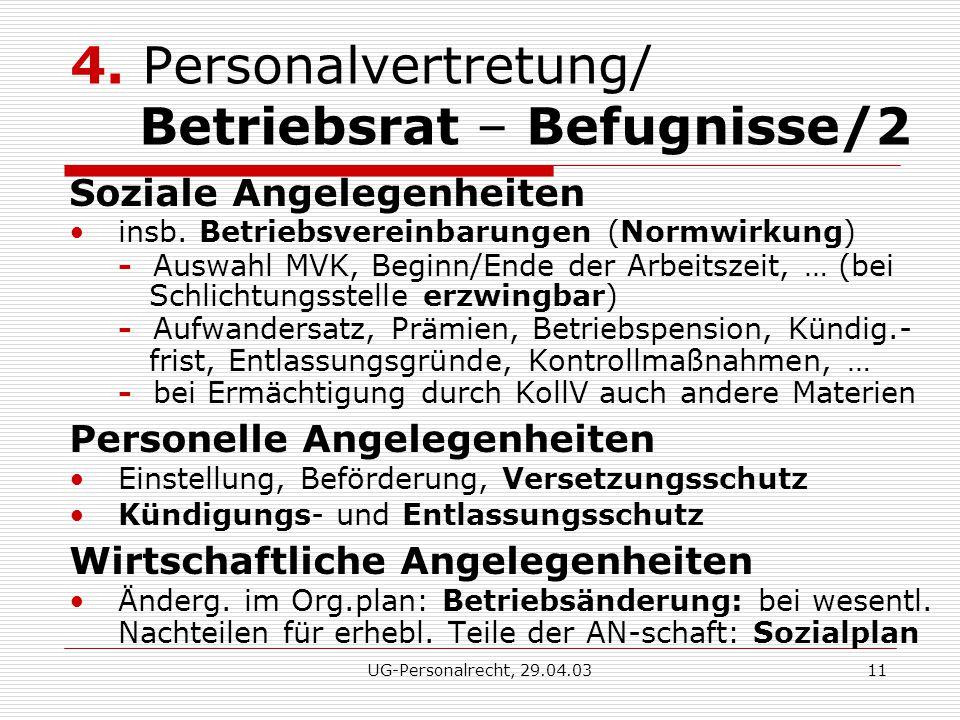 UG-Personalrecht, 29.04.0311 4.