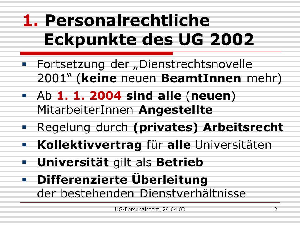 UG-Personalrecht, 29.04.032 1.