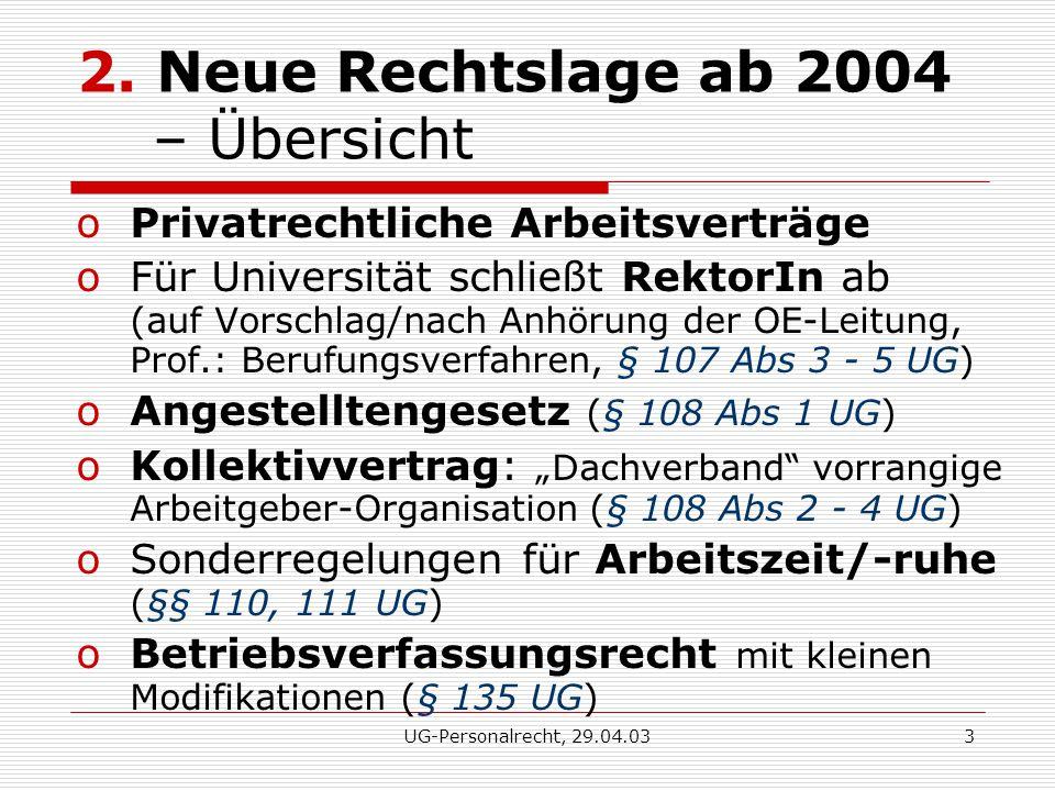 UG-Personalrecht, 29.04.033 2.