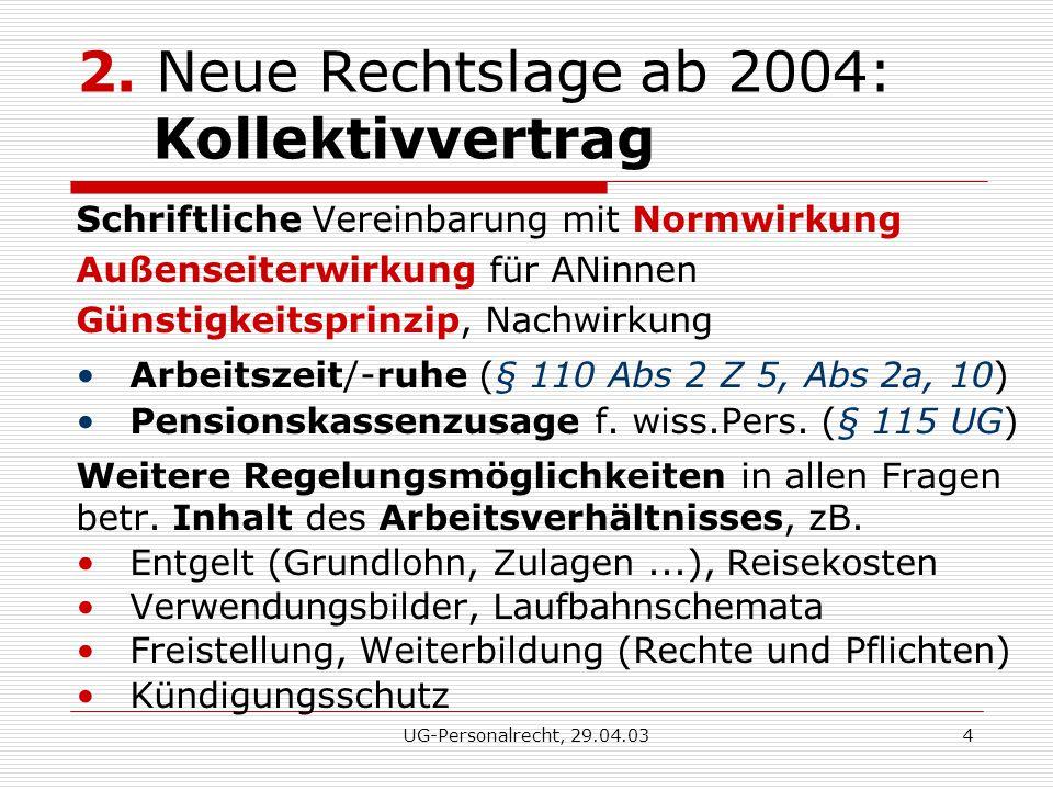 UG-Personalrecht, 29.04.034 2.