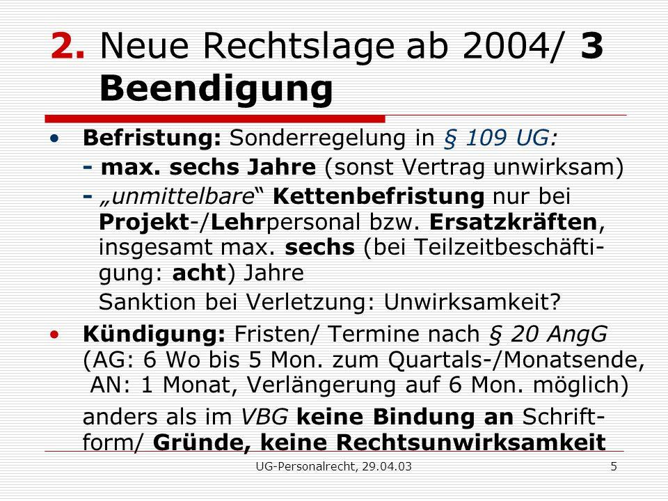 UG-Personalrecht, 29.04.035 2.