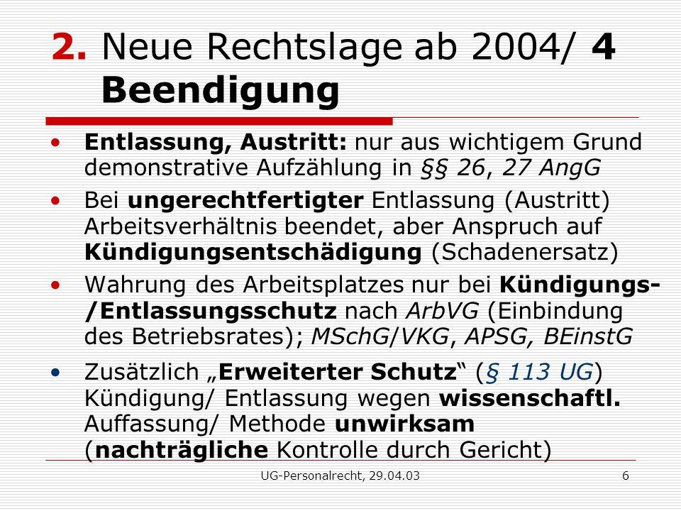 UG-Personalrecht, 29.04.036 2.