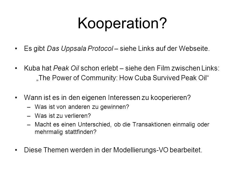 Kooperation. Es gibt Das Uppsala Protocol – siehe Links auf der Webseite.