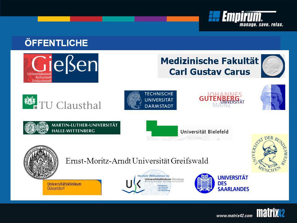 Ernst-Moritz-Arndt Universität Greifswald ÖFFENTLICHE
