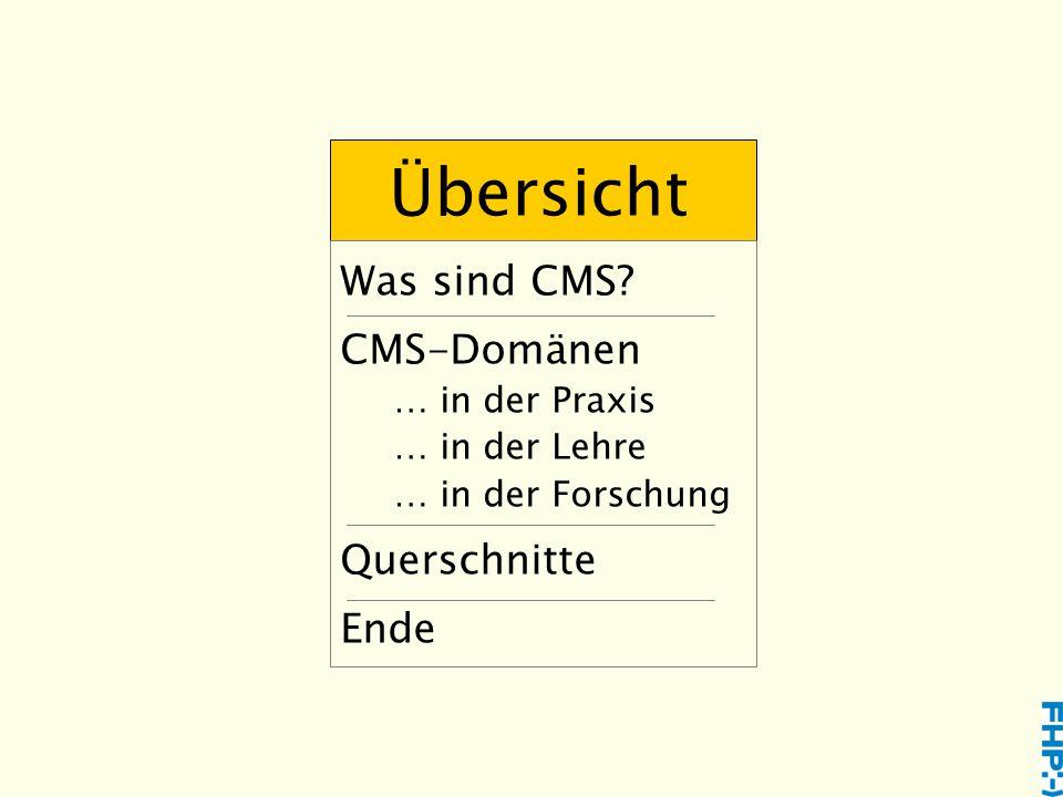 CMS Software Vielfalt der Funktionen Quelle: www.CMSmatrix.org
