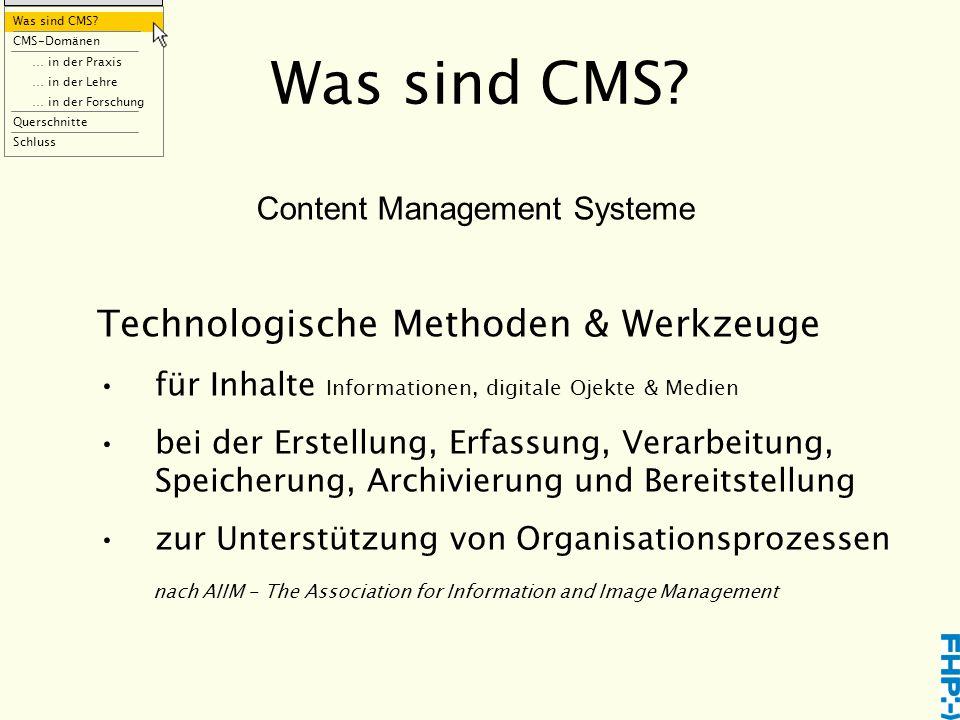 Was sind CMS.