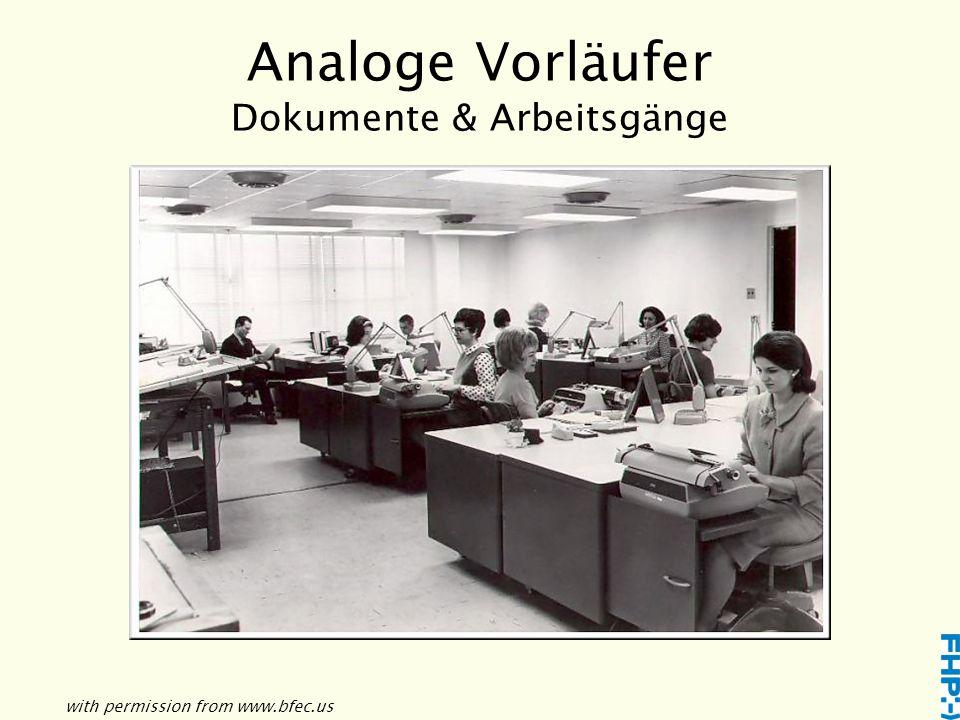 Analoge Vorläufer Kreation & Produktion Quelle: http://www.flickr.com
