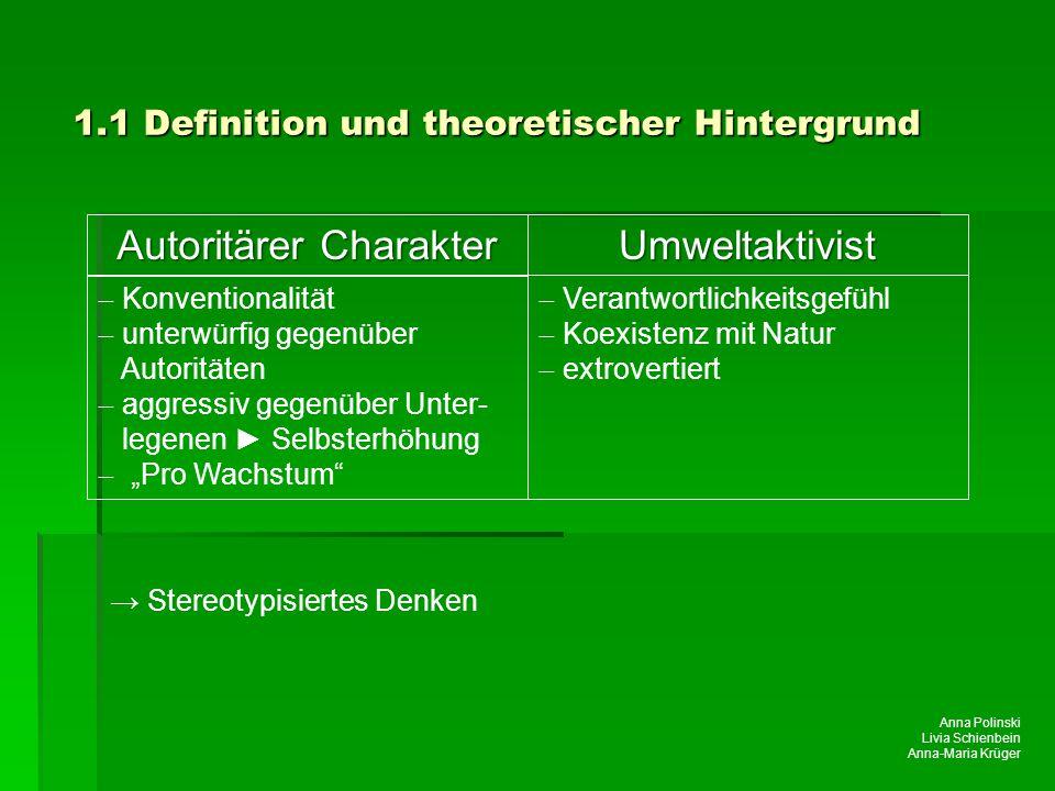 Anna Polinski Livia Schienbein Anna-Maria Krüger → Stereotypisiertes Denken Autoritärer Charakter  Konventionalität  unterwürfig gegenüber Autorität