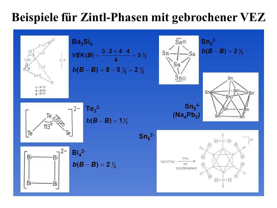 Beispiele für Zintl-Phasen mit gebrochener VEZ
