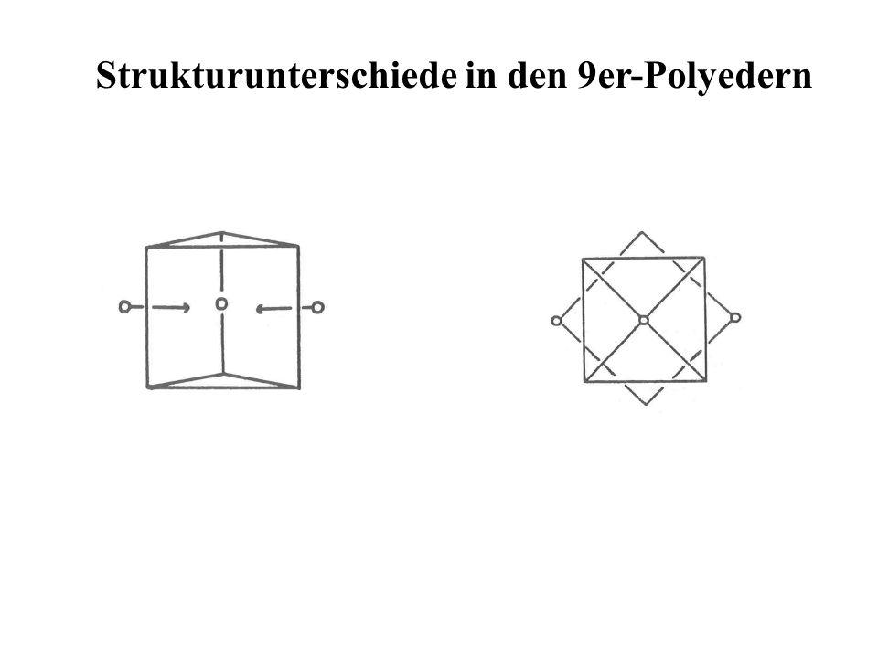Strukturunterschiede in den 9er-Polyedern