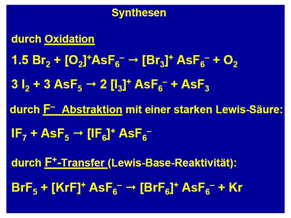 Strukturen AuF 3 + 6 Xe + 3H + AuXe 4 2+ + Xe 2 + + 3HF K. Seppelt Science 2000