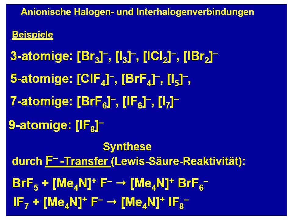 KrF 2 (linear?) = -50 kJ/mol Bindungsstärken Xe-F Xe.