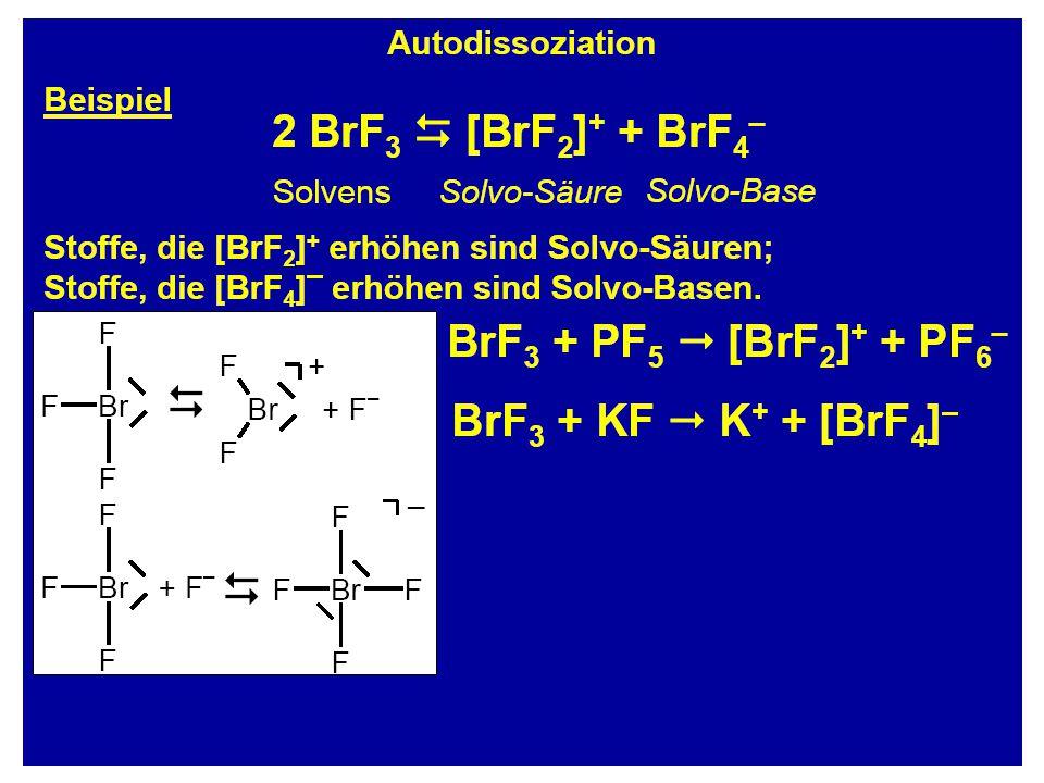 Stabilität XeF 2 : Stabil bei Raumtemperatur NeF 2 : kurzzeitig stabil in Ar-Matrix ca.100 K Zur Stabilität trägt die hypervalente 3 Zentren  -Bindung bei Die stärke ist abhängig von der EN des Edelgases Edelgas + Hal 2 EdelgasHal 2 BDE: F 2 = 158 kJ/mol Cl 2 = 244 kJ/mol H 2 = 436 kJ/mol
