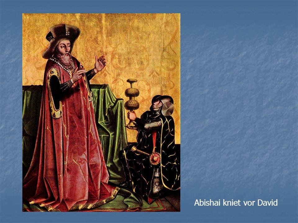 Abishai kniet vor David