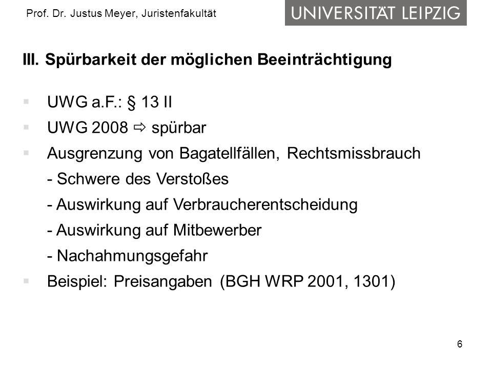 6 Prof. Dr. Justus Meyer, Juristenfakultät III.