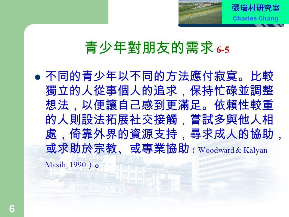 張瑞村研究室 Charles Chang 17 團體接受度與受歡迎度 12-5 2.