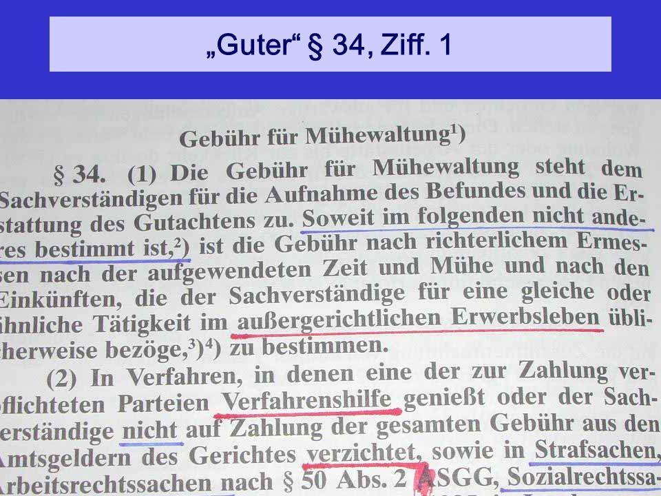 """""""Guter § 34, Ziff. 1"""