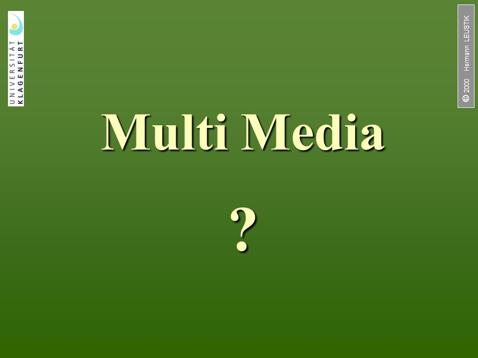 Multi Media  2000 Hermann LEUSTIK