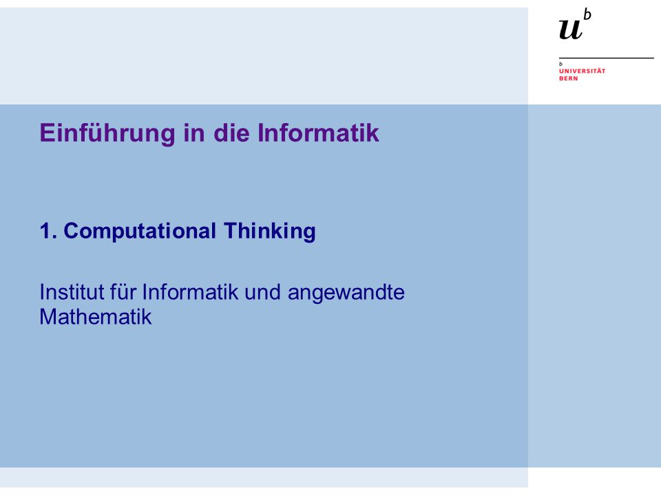 Parallel algorithms © Oscar Nierstrasz Computational Thinking 12 By distributing tasks to many workers, we get more done in the same amount of time
