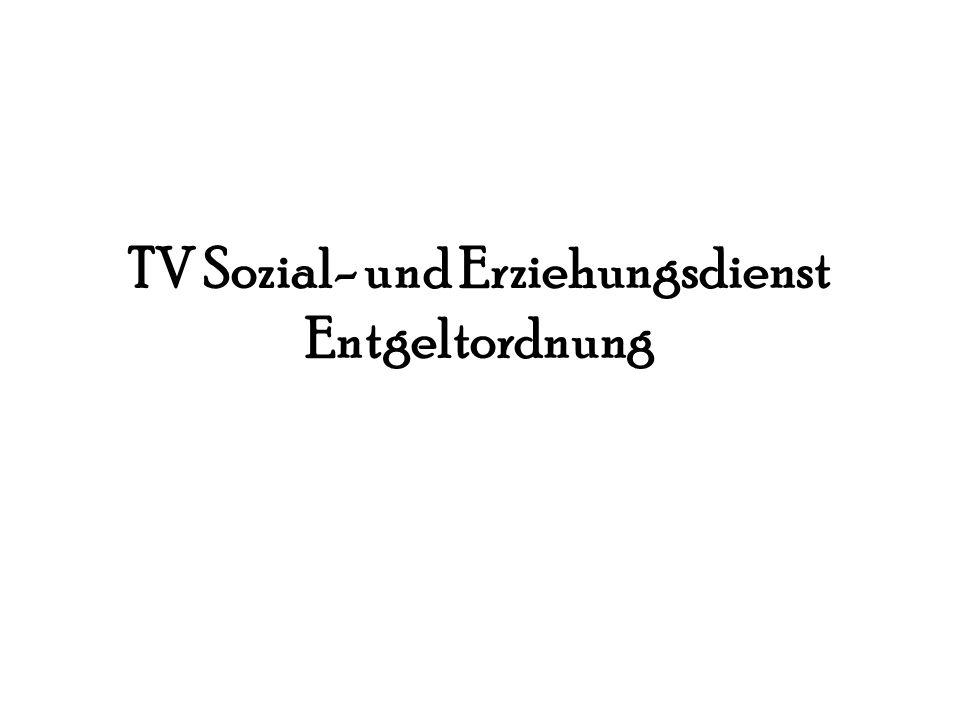 TV Sozial- und Erziehungsdienst Entgeltordnung