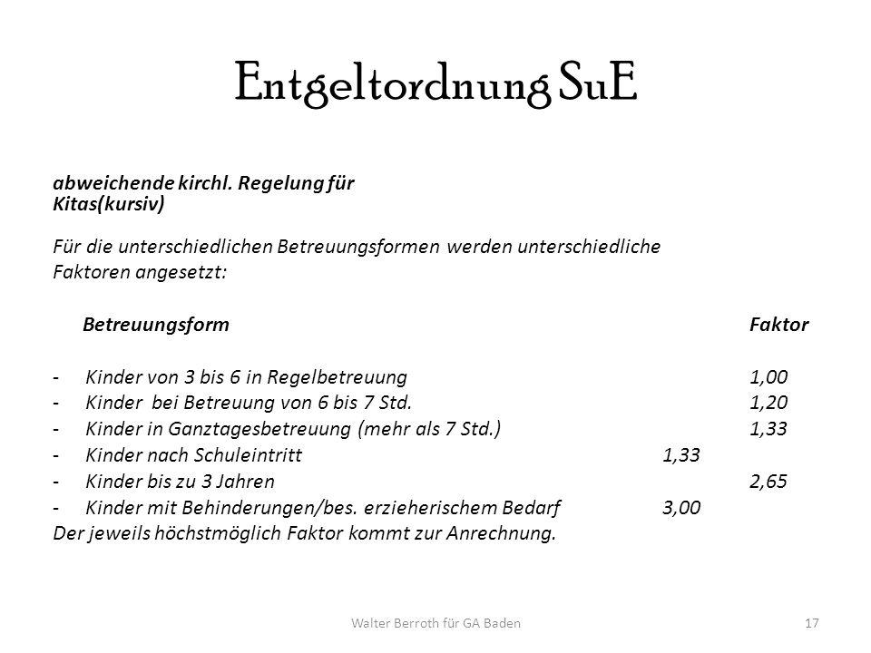 Walter Berroth für GA Baden17 Entgeltordnung SuE abweichende kirchl.
