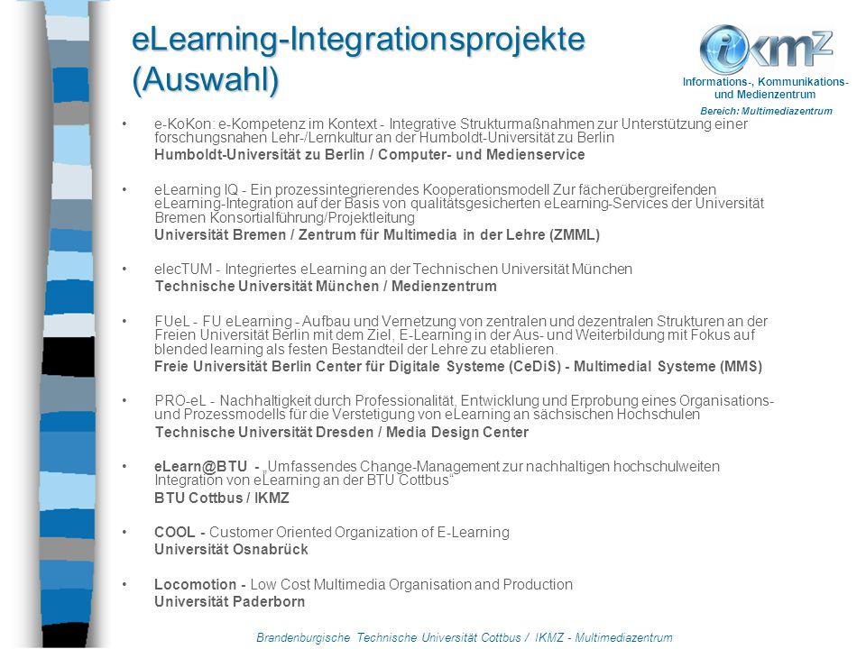 Brandenburgische Technische Universität Cottbus / IKMZ - Multimediazentrum Informations-, Kommunikations- und Medienzentrum Bereich: Multimediazentrum Wie sieht es aus nach dem Ende der Förderung.