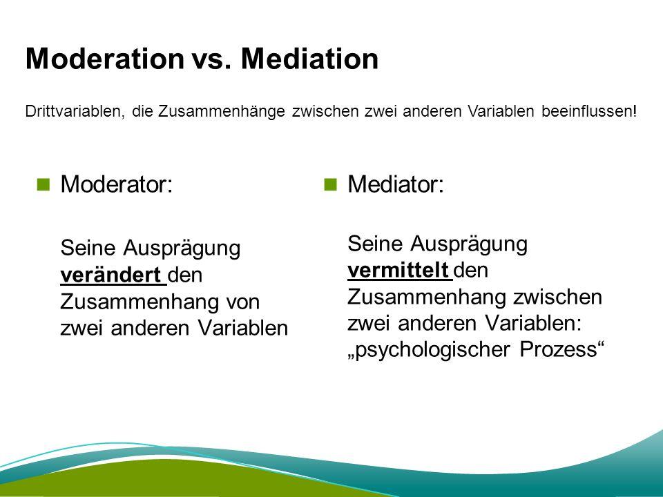 Moderation vs.