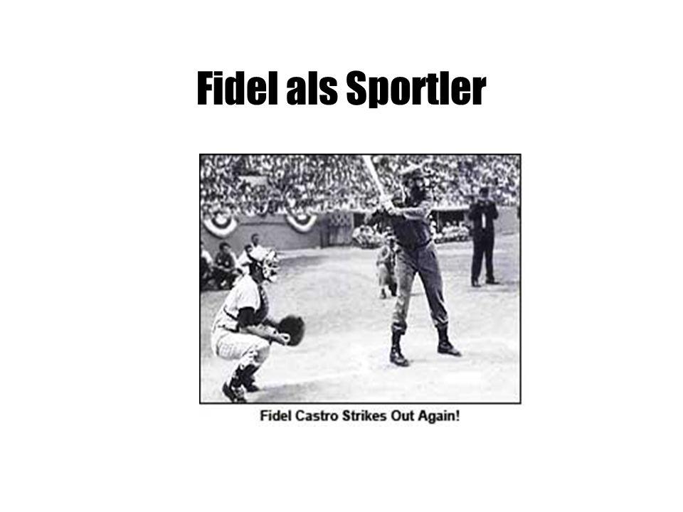 Fidel als Sportler