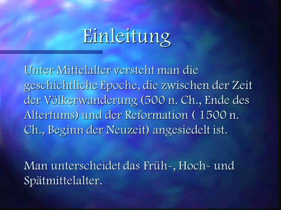 Inhaltsverzeichnis 7 Einleitung 7 Das Hohe Mittelalter 7 Höfische Kultur 7 Die Dichter dieser Epoche 7 Gattungsgeschichte