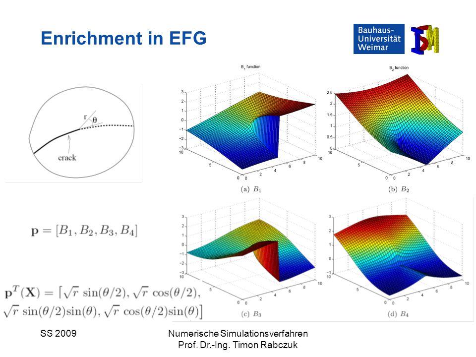 SS 2009Numerische Simulationsverfahren Prof. Dr.-Ing. Timon Rabczuk Enrichment in EFG