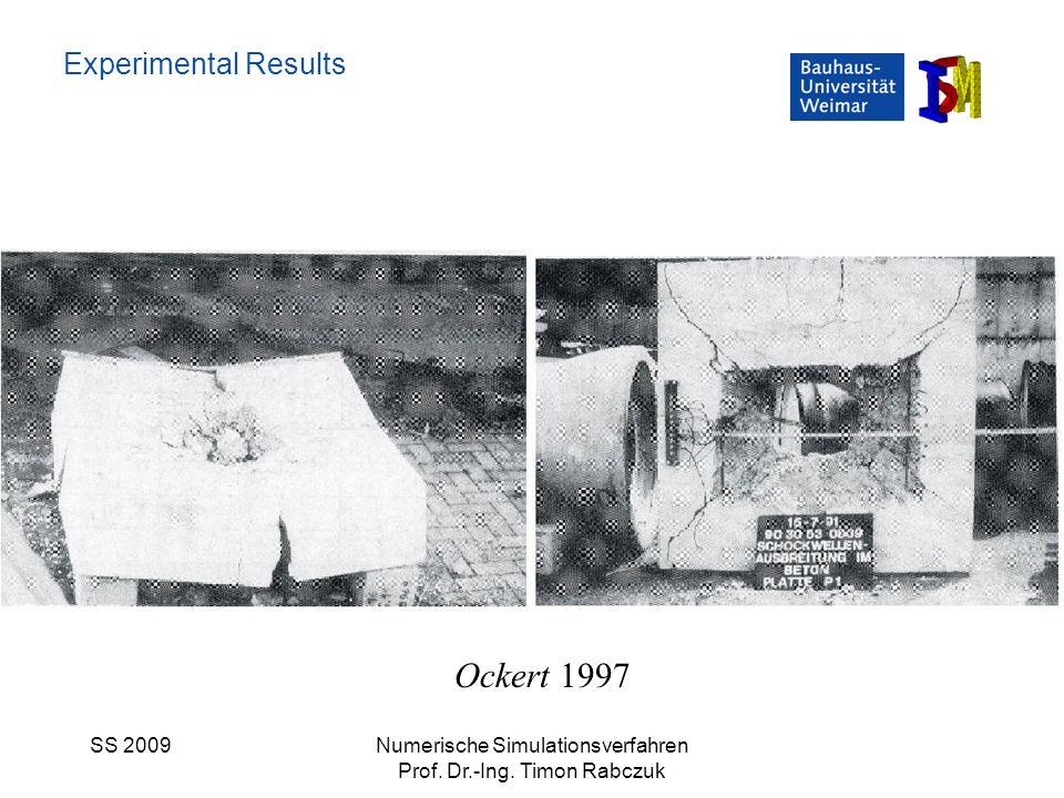 SS 2009Numerische Simulationsverfahren Prof. Dr.-Ing. Timon Rabczuk Experimental Results Ockert 1997